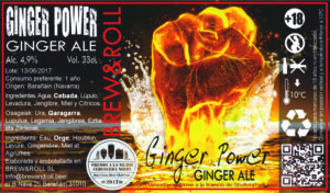 Cerveza Ginger Power de Brew & Roll